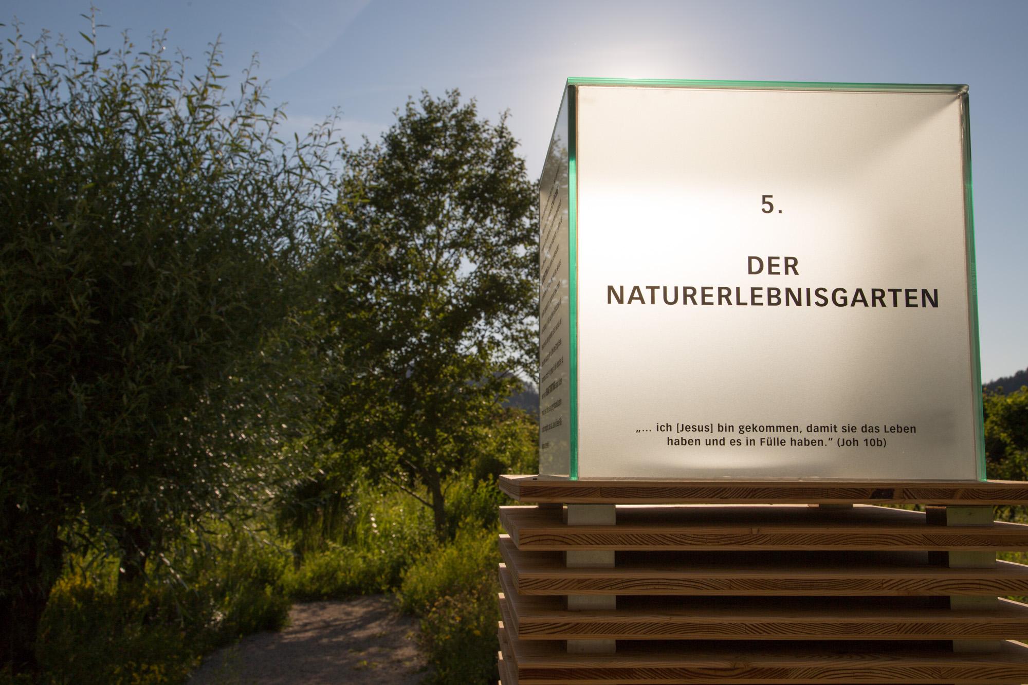 Eingang zum Naturerlebnisgarten Stift St. Georgen - Marktplatz Mittelkärnten