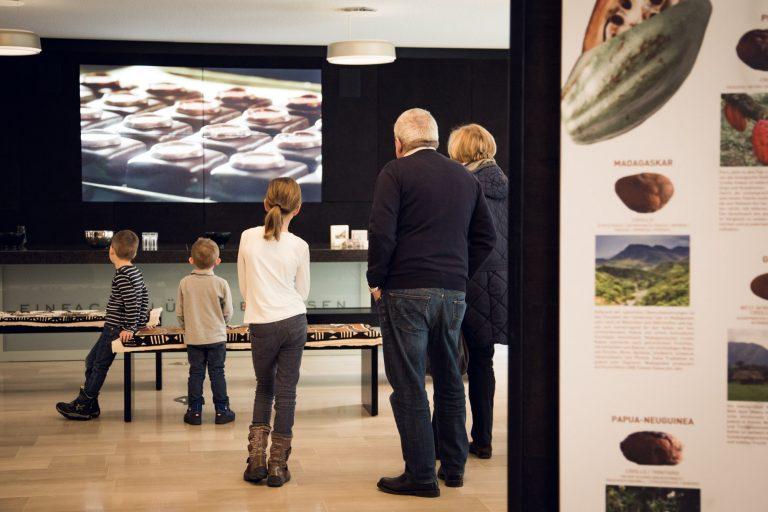 Videowall in der Schokoladen Erlebnis-Manufaktur Craigher